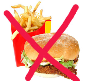 Eliminate junk food from your diet