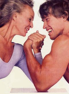 Lydia Bach and Arnold Schwarzenegger