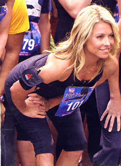 Kelly Ripa (above) is the quintessential fitness buff.